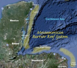 Mesoamerican reef map