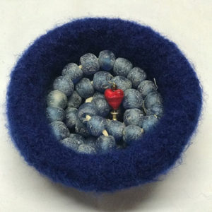 Smaller felted bowl
