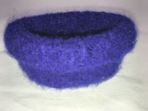 Felted Bowl side view